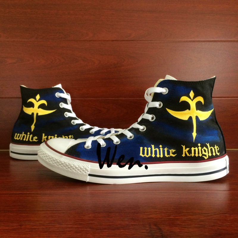Wen Anime Shoes Hand Painted Design Custom Code Geass High Top Canvas Sneakers Birthday Gifts for Men Women wen anime hand painted shoes design custom soul eater maka albarn death the kid high top men women s canvas shoes