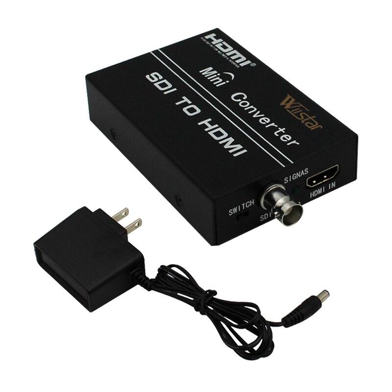 Бесплатная доставка HDMI к HDMI конвертер SDI в HDMI конвертер адаптер Поддержка SD и HD-SDI-сигнала и 3G-SDI сигналы, показывающие на дисплее HDMI