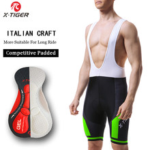 X-TIGER Cyclisme Bib Shorts Évacuation de L'humidité Vtt Shorts D'été Antichoc 5D GEL Pad Coussin VTT Vélo Bib Collants