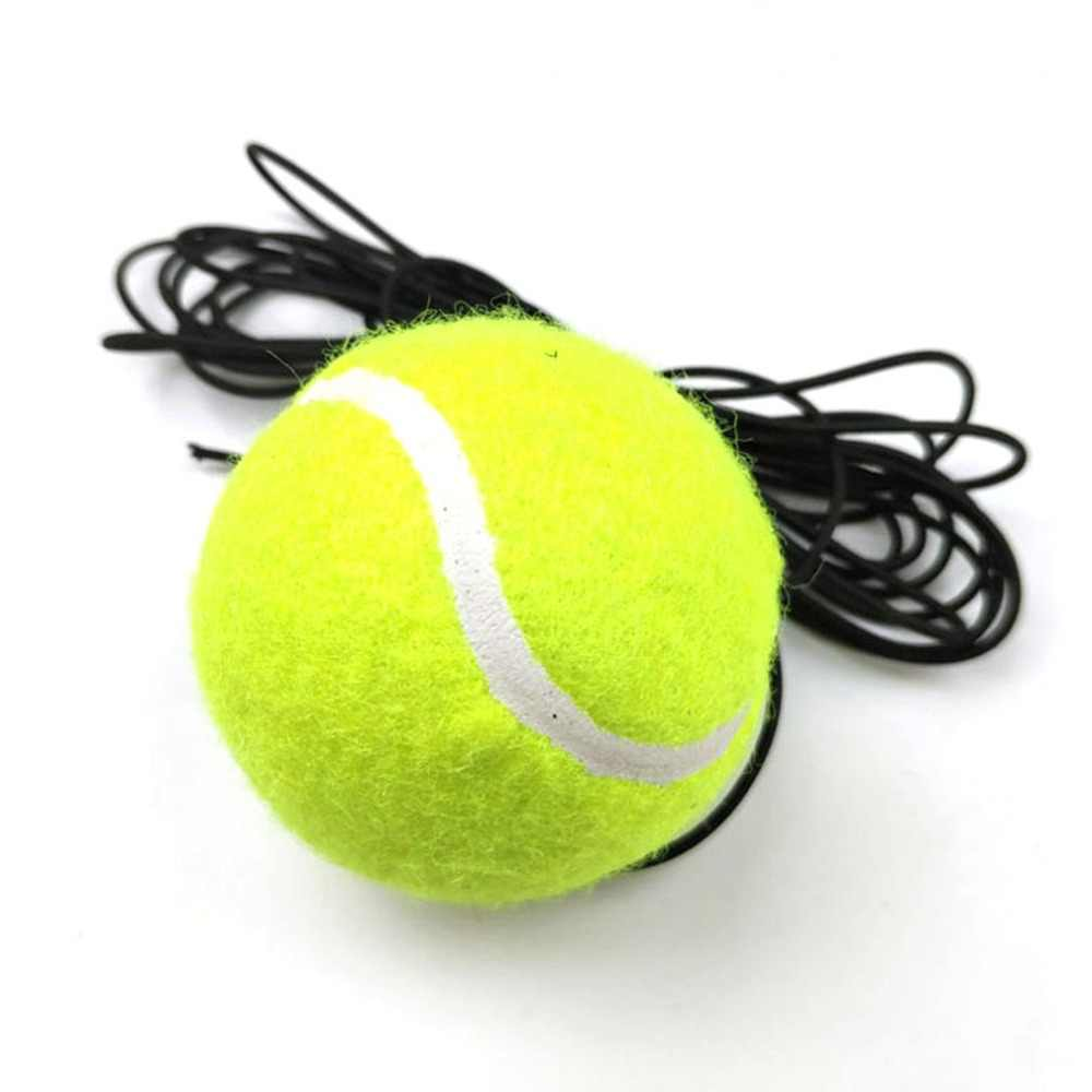 Racquet Sports Portable Tennis Trainer Replacement Tennis Ball with String Rubber Woolen Training Tennis Ball High Elasticity