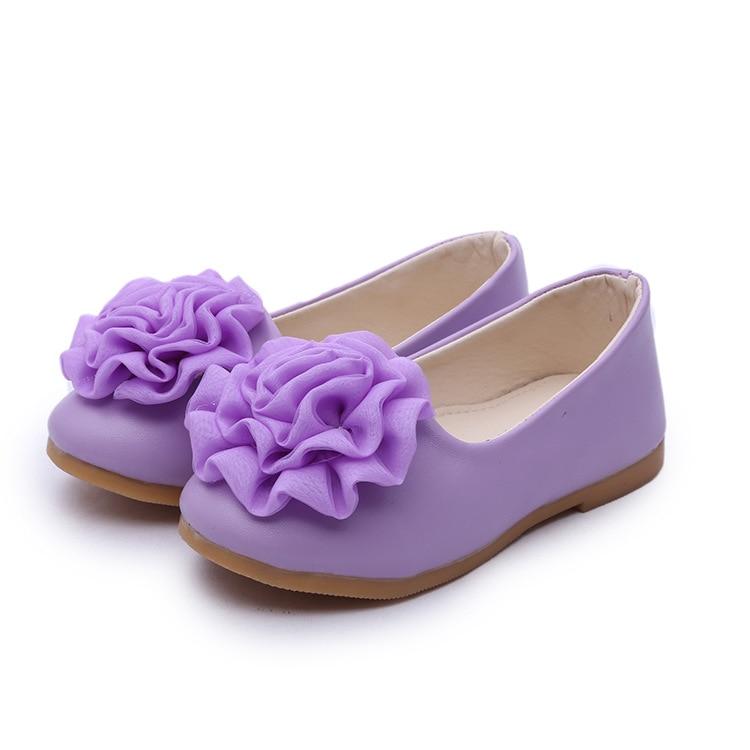2018 fashion children pink princess designer flower toddler PU patent leather dress shoes for girls