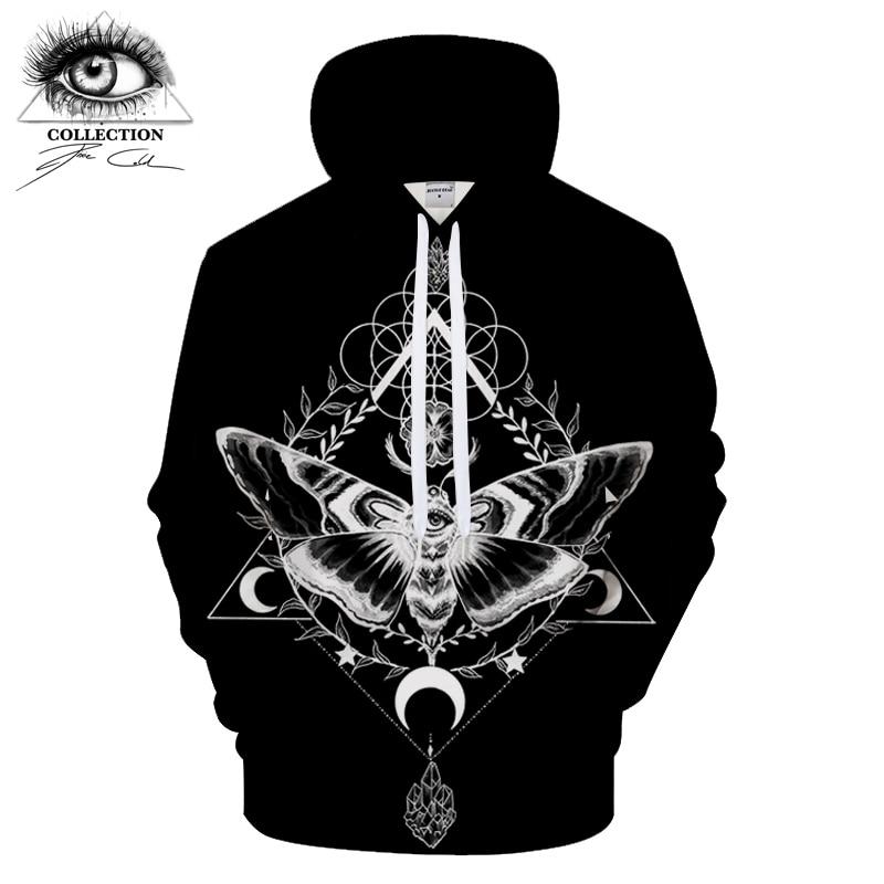 Motte schwarz By Pixie coldArt 3D Print Hoodies Men Casual Sweatshirt Tracksuit Pullover Jacket Hoody Streatwear Unisex DropShip