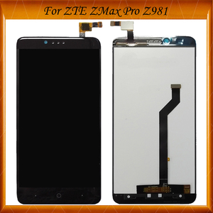 100% Tested OK For ZTE ZMax Pro Z981 LCD Display with Touch Screen Digitizer for zte z981 Black High Quality