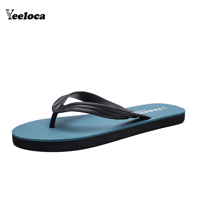2019 Mode Flip-flops Männer Sommer Hausschuhe Outdoor Komfort Zapatos Hombre Männlichen Casual Sandalen Schwarz Rot Grau Grün Yeeloca