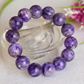 Natural Genuine Purple Charoite Finished Stretch Bracelet Round Loose 10-14mm beads Jewelry DIY 04397