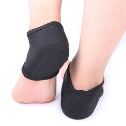1 Pair Nylon Plantar Fasciitis Therapy Wrap Heel Foot Pain Arch Support Ankle Brace Heel Warm Protector Insole Orthotic