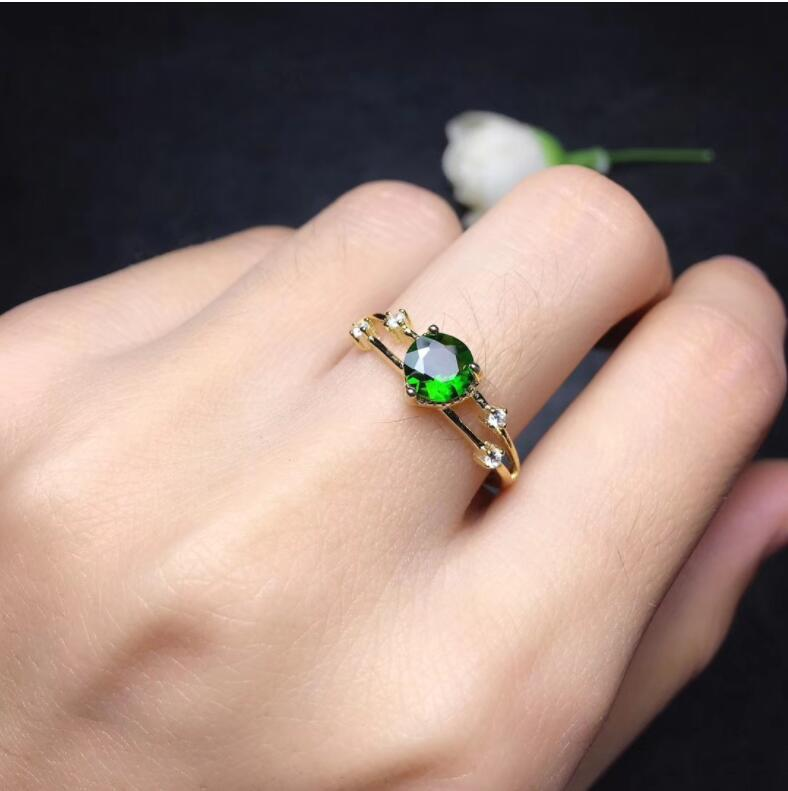 Diopside ring Free shipping Natural green diopside 925 sterling silver Fine jewelry ring For men or women Diopside ring Free shipping Natural green diopside 925 sterling silver Fine jewelry ring For men or women