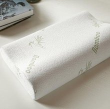 Home Soft Contour Orthopedic Bamboo Fiber Sleeping Pillow Memory Foam Pillows