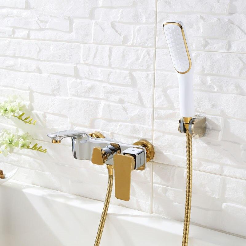 e preto cromado banho torneira do chuveiro