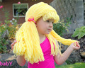 New Arrival Clown Wig girls Halloween Costume wig funny hat crocheted cabbage patch Clown Pigtail