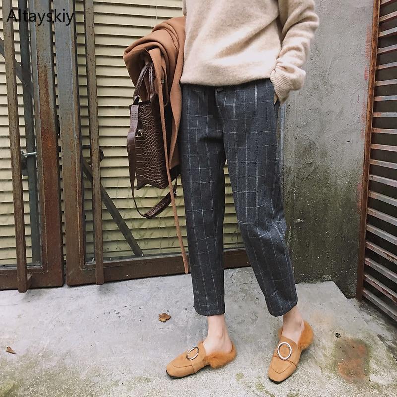 Trendy Daily News: Pants Women Pockets Leisure Korean Style Daily Harem Pant