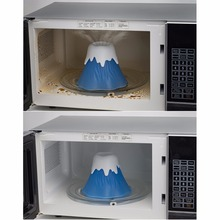 Kitchen Erupting Volcano Cleaning Microwave Cleaner Cooking Kitchen Gadget Tools Clean In Minutes Fun