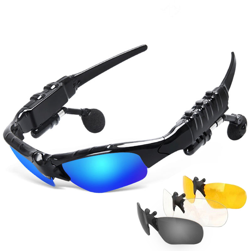 Sunglasses Bluetooth Headset Outdoor Glasses Earbuds Music with Mic Stereo Wireless Headphone for iPhone Samsung xiaomi Redmi 3 smart bluetooth sunglasses headset hands free mic headphone for smart phone outdoor sport stereo music sun glasses headphones
