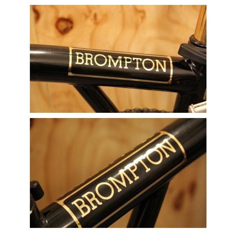 AGEKUSL Brompton Bike Metallic Sticker Decal Folding Bicycle Frame Sticker 2016