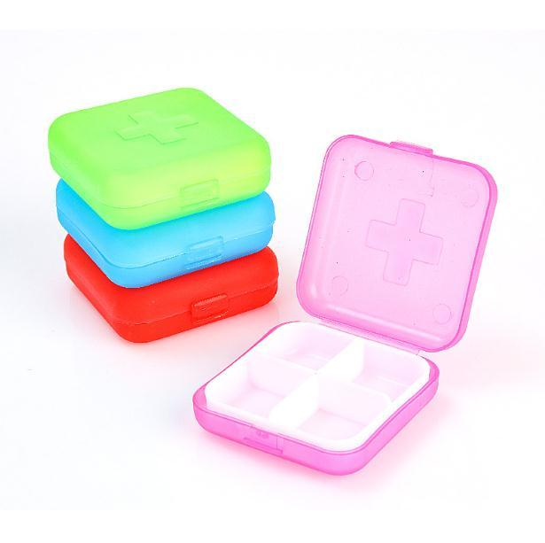 New Mini Colorful Vitamin Tablet Pill Box Kawaii Case Food Organizer