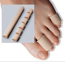 by DHL or EMS 200pcs NEW Toe Protector Fabric+Gel Tube Cushion Corns and Calluses 15*2cm Bunion Guard for Feet Care