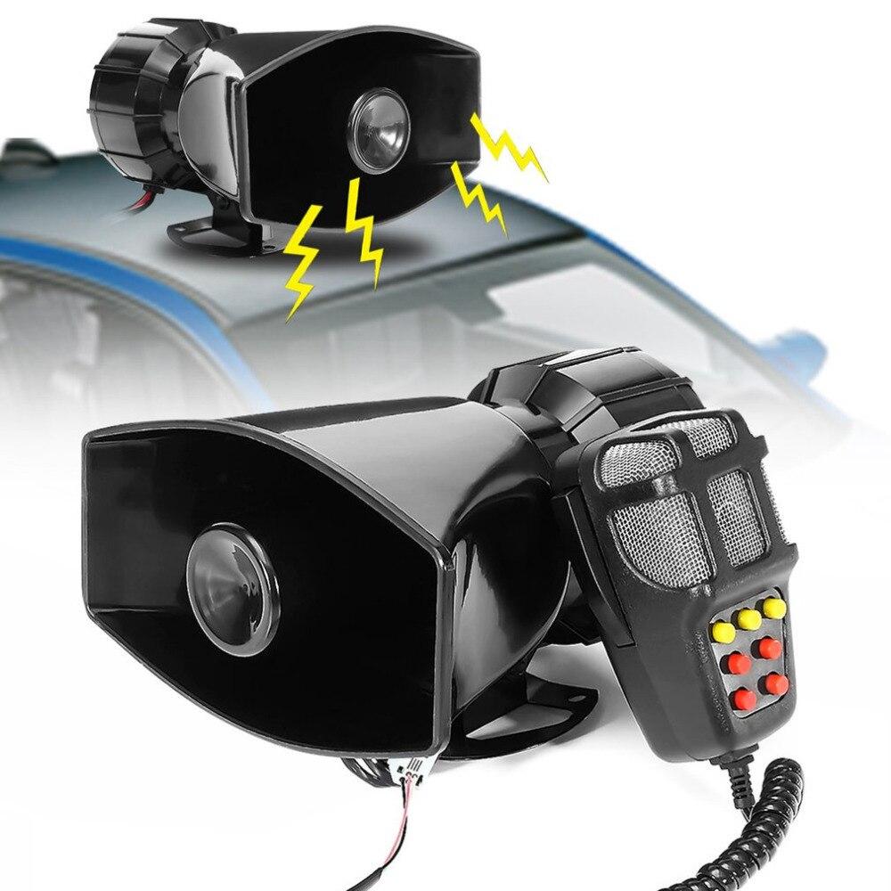 100W Car Siren Horn Durable 12V Vehicle Warning Alarm 120db Sound Loud Speaker Portable Motorcycle Siren Horn
