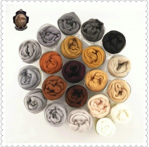 Забавная кукла для рукоделия «сделай сам», «Мишка для животных», «Собака», «кошка», особенный коричневый цвет, шерсть, волокно для вязания игл, ручная прядильная сумка 5 г/15|wool fibre|wool rovingroving wool | АлиЭкспресс