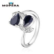 925 Plata Esterlina 1.72ct Amatista Natural/Granate/Peridot/Zafiro anillo de Compromiso anillo de Aniversario de Boda Anillos de La Joyería Para Las Mujeres