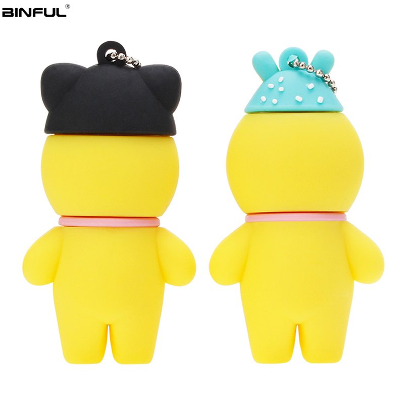 Image 5 - Pen Drive 128GB 64GB 32GB Usb Flash Drive Cute Cartoon Hyaluronic Acid Duck Flash Memory Stick Usb 2.0 High Quality Thumbdrives-in USB Flash Drives from Computer & Office