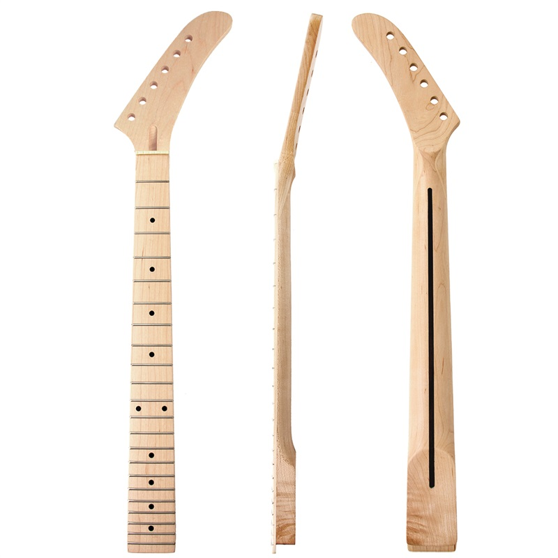 Banana Guitar Neck Maple Fingerboard 22 Frets For Electric Guitar Neck Replacement Parts White Dot Inlay Matt