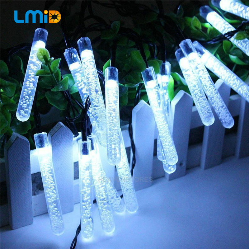 LMID Solar LED Lamp Fairy Icicle Solar Power String Light Christmas Holiday Decoration Garden Waterproof Outdoor Solar Lights