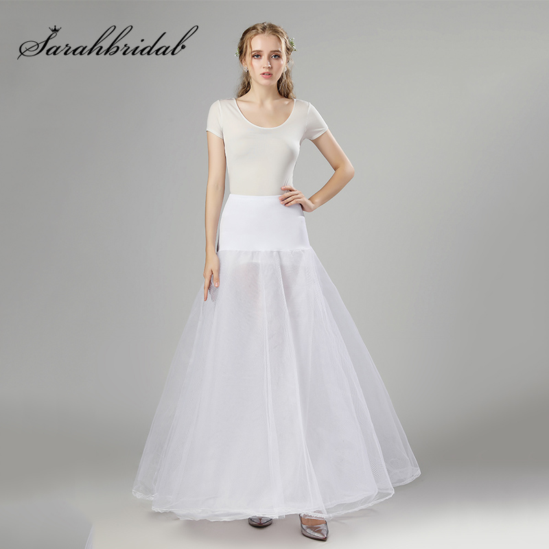 LONGBLE 6 Hoop Skirt Wedding Full Slip Bridal Petticoat//Underskirt//Crinoline White