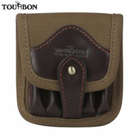 New Arrival Tourbon Designer Hunting Accessories Tactical Canvas Leather Cartridge Holder Ammo Pouch Bag Rifle Bandolier