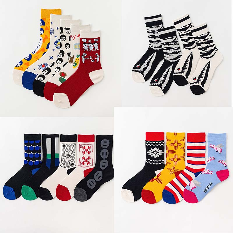 2019 New Product Harajuku Fashion Creative Happy Socks Vintage Illustrations Lovely Pig Streets Trend Socks Calcetines Mujer