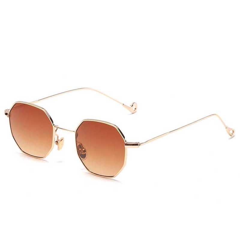 2167b8b732b9d9 ZUCZUG Arrivée Polygone Clair Carré lunettes de Soleil Femmes Marque De  Mode Design Madame Vintage En Métal Petit Cadre Plaine Lunettes de Soleil  UV400 dans ...