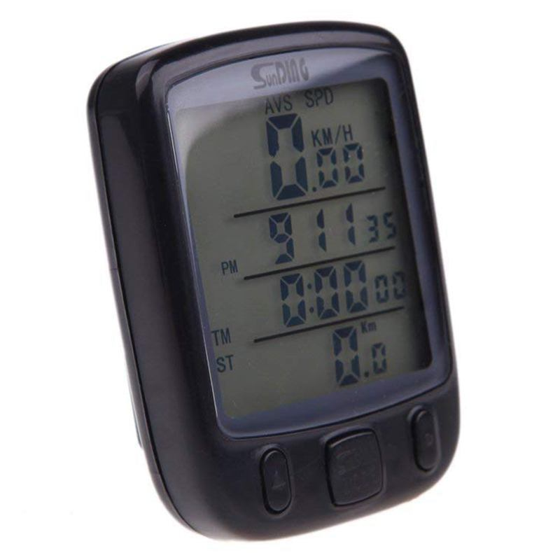 SUNDING Wireless Bike Bicycle Cycling Computer Odometer Speedometer Backlit LCD Backlight Waterproof Multifunction