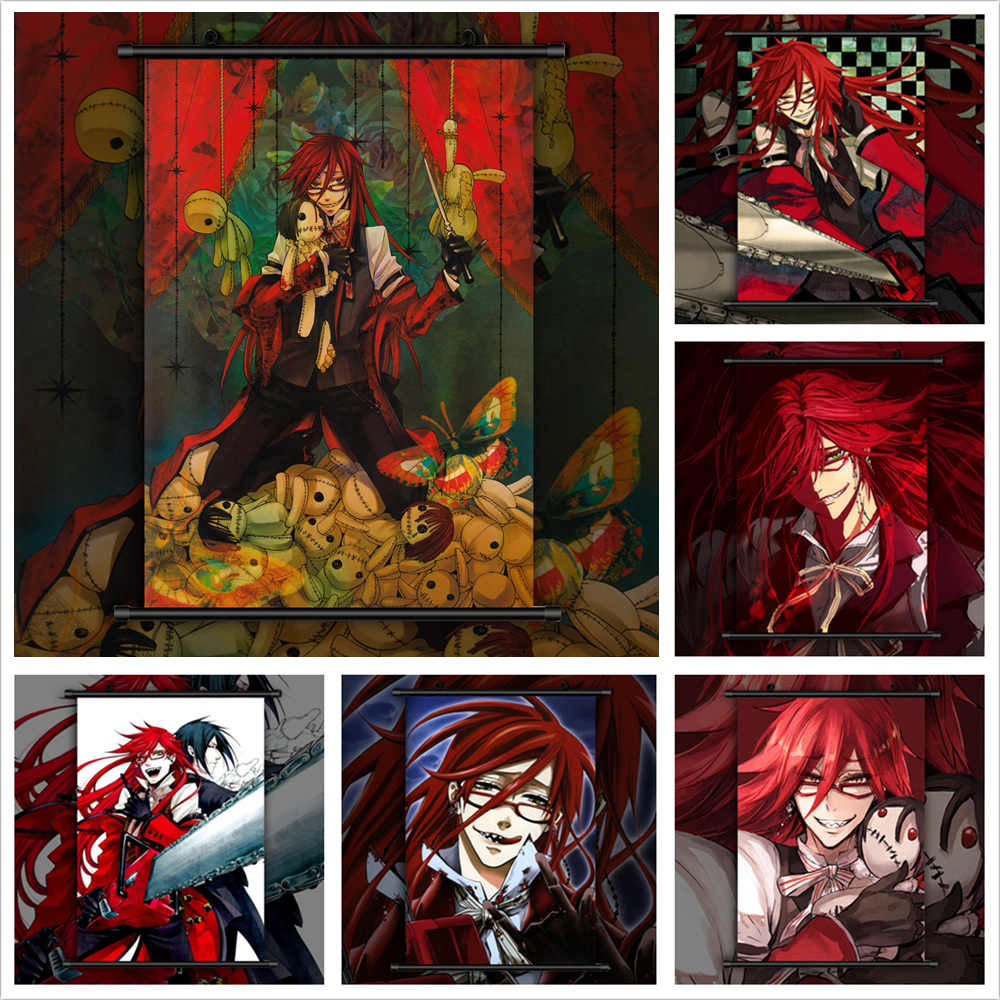 Black Butler Grell Sutcliff Anime manga wall Poster Scroll C