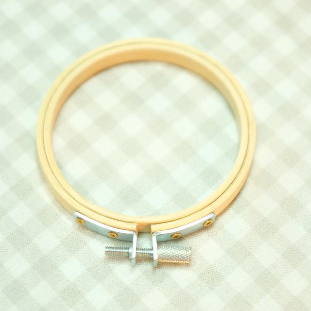 Kids Small Teaching Embroidery Hoops Bamboo Circle Cross Stitch Hoop