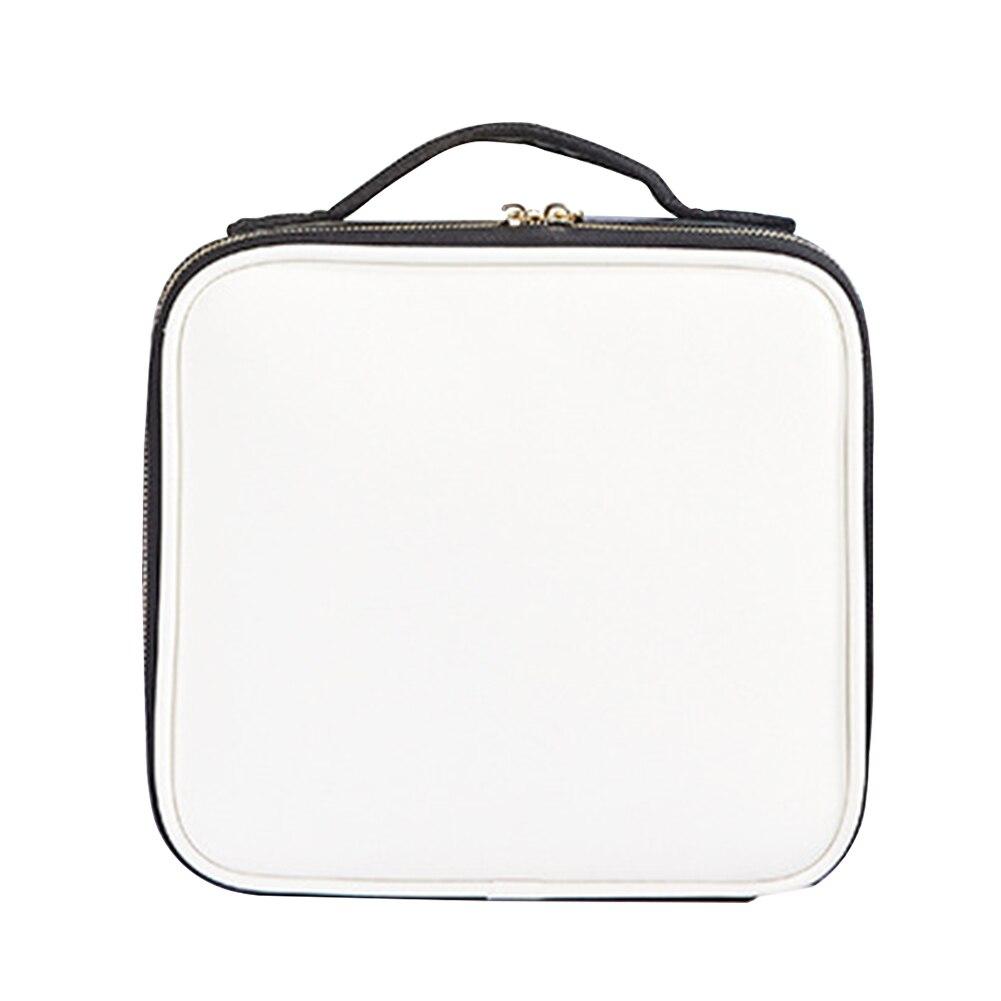 Storage Travel Cosmetic Organizer Multi-grid Case Waterproof Professional Portable Zipper Makeup Bag Handbag