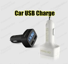 Auto Car Dual USB square Charger Power Socket port for mobile phones and digital cameras etc 12V 1.0A 2.1A car chargers adapter