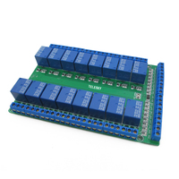16 Way Relay Module Low Level Trigger Dual PCB Bidirectional Terminal 5V 12V 24V