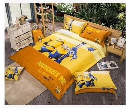 Copripiumino Matrimoniale Bambini.Giallo Minion Letto Designer Bedding Set Copriletti Copripiumino