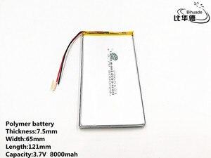 Image 3 - 1 pcs/lot bonne qualité 3.7 V, 8000 mAH, 7565121 polymère lithium ion/Li ion batterie pour jouet, batterie externe, GPS, mp3, mp4