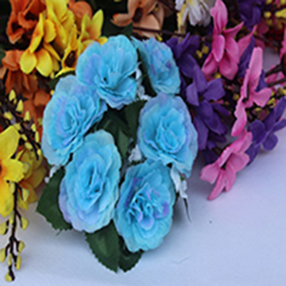 Candle Ring Silk Wedding  Handmade Flower Rose Tabletop Centerpieces Unity Gifts
