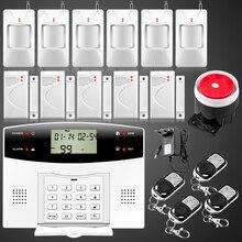 Сигнализация безопасности для дома. Двойная сеть русский испанский французский. Беспроводная GSM pstn с ЖК дисплеем клавиатура. батарейками не комплектуется.