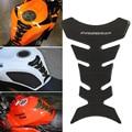 Universal de La Motocicleta 3D Gas Fuel Oil Tank Pad Protector Decal etiqueta Brillo de Fibra de Carbono del Hueso de Pescados Para Honda Yamaha Calle bicicleta