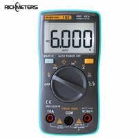 RICHMETERS 102 Multimetro 6000 conti Torna la luce AC/DC Amperometro Voltmetro di Ohm Frequenza Diodo Temperatura