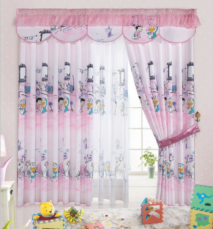 cartoon print blackout baby room curtains children girls boys kids infant soundproof cortinas nursery pink curtains1834