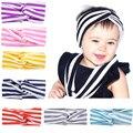 Fashion Cute Rabbit Ears stripe Bow Hair Bands Baby Cloth Headband Bowknot Headwear