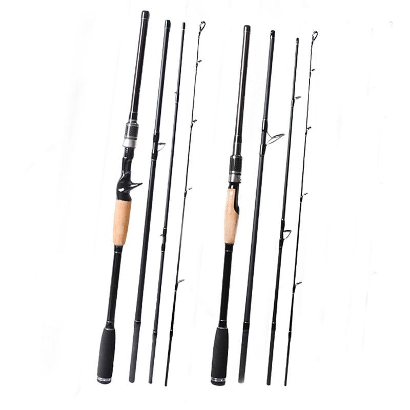 Fishing Rod Carbon Spinning Casting Lure Rod 2.1 2.4 2.7 3m 4 Sections Travel Rod vara de pesca Carp Fishing pole цена 2017
