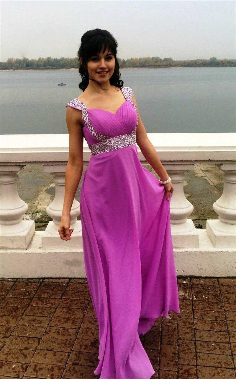 Púrpura brillante del Vestido de Noche Largo Barato Vestidos para ...