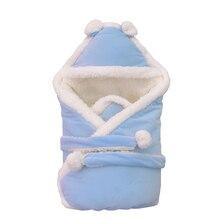 Супер Удобный спальный мешок из овечьей шерсти для малышей, 10 цветов, для детей 0-6 месяцев, качественное одеяло для новорожденных, зимний конверт