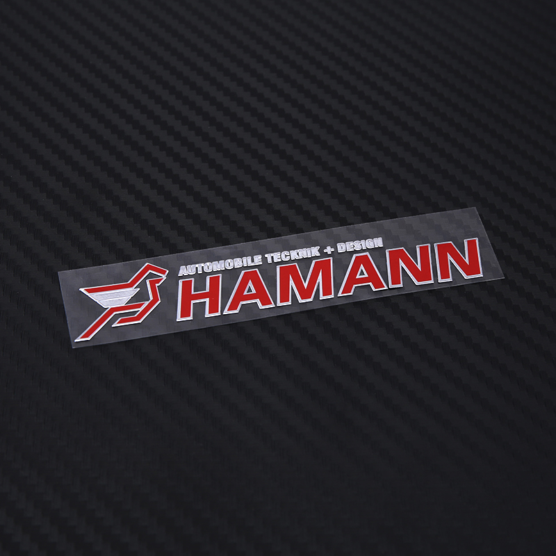 ETIE Hamann Car Styling Nickel Printing Sticker 3D Adhesive