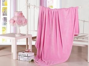 Image 5 - CAMMITEVER Home Textile Sofa Bedding Fleece Blanket Summer Solid Color Blankets Super Soft Warm Flannel Throw On Sofa/Bed/Travel