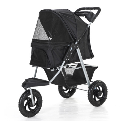 Pet Stroller Dog Cart Folding Removable And Washable Split Pet Car Package Teddy Kennel Pet Three-wheeled Cart